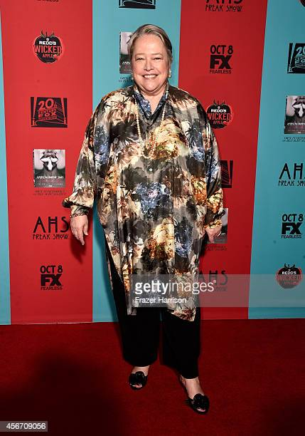 Actress Kathy Bates attends FX's 'American Horror Story Freak Show' premiere screening at TCL Chinese Theatre on October 5 2014 in Hollywood...