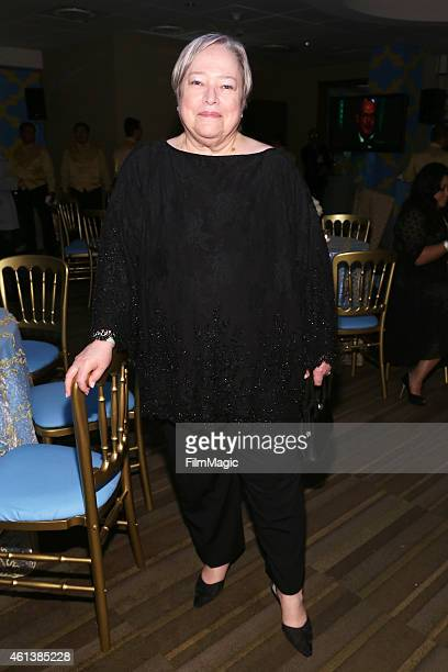 Actress Kathy Bates attends HBO's Official Golden Globe Awards After Party at The Beverly Hilton Hotel on January 11 2015 in Beverly Hills California