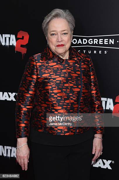 Actress Kathy Bates attends the 'Bad Santa 2' New York Premiere at AMC Loews Lincoln Square 13 theater on November 15 2016 in New York City