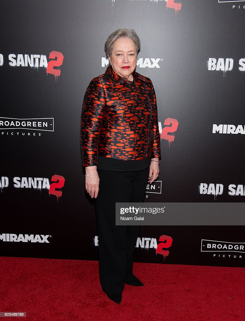 Actress Kathy Bates attends the 'Bad Santa 2' New York premiere at AMC Loews Lincoln Square 13 theater on November 15, 2016 in New York City.