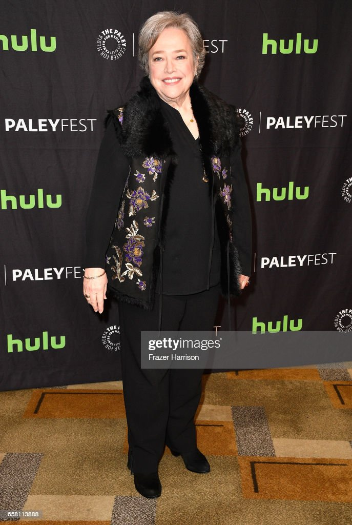 Actress Kathy Bates attends The Paley Center For Media's 34th Annual PaleyFest Los Angeles 'American Horror Story 'Roanoke' screening and panel at Dolby Theatre on March 26, 2017 in Hollywood, California.