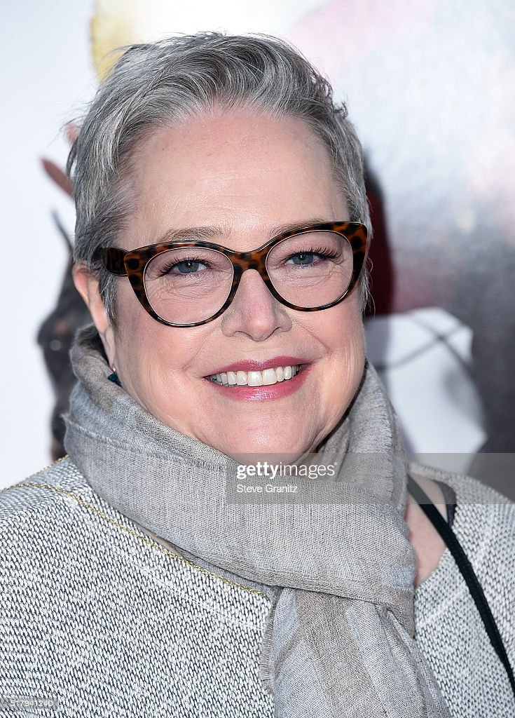 Actress Kathy Bates attends the premiere of USA Pictures' 'The Boss' at Regency Village Theatre on March 28 2016 in Westwood California