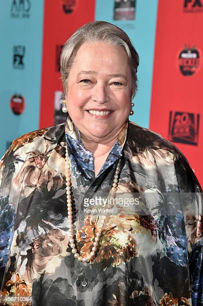 Actress Kathy Bates attends the premiere screening of FX's 'American Horror Story Freak Show' at TCL Chinese Theatre on October 5 2014 in Hollywood...