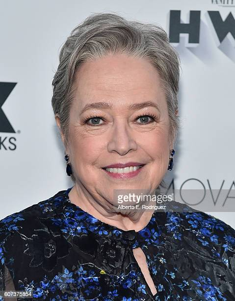 Actress Kathy Bates attends the Vanity and FX Annual Primetime Emmy Nominations Party at Craft Restaurant on September 17 2016 in Beverly Hills...