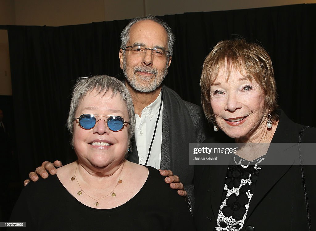 Actress <a gi-track='captionPersonalityLinkClicked' href=/galleries/search?phrase=Kathy+Bates+-+Schauspielerin&family=editorial&specificpeople=171565 ng-click='$event.stopPropagation()'>Kathy Bates</a>, director <a gi-track='captionPersonalityLinkClicked' href=/galleries/search?phrase=Jon+Avnet&family=editorial&specificpeople=220482 ng-click='$event.stopPropagation()'>Jon Avnet</a> and actress Shirley MacLaine attend Target Presents AFI's Night at the Movies at ArcLight Cinemas on April 24, 2013 in Hollywood, California.
