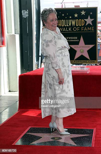 Actress Kathy Bates is honored with a Star on the Hollywood Walk of Fame on September 20 2016 in Hollywood California