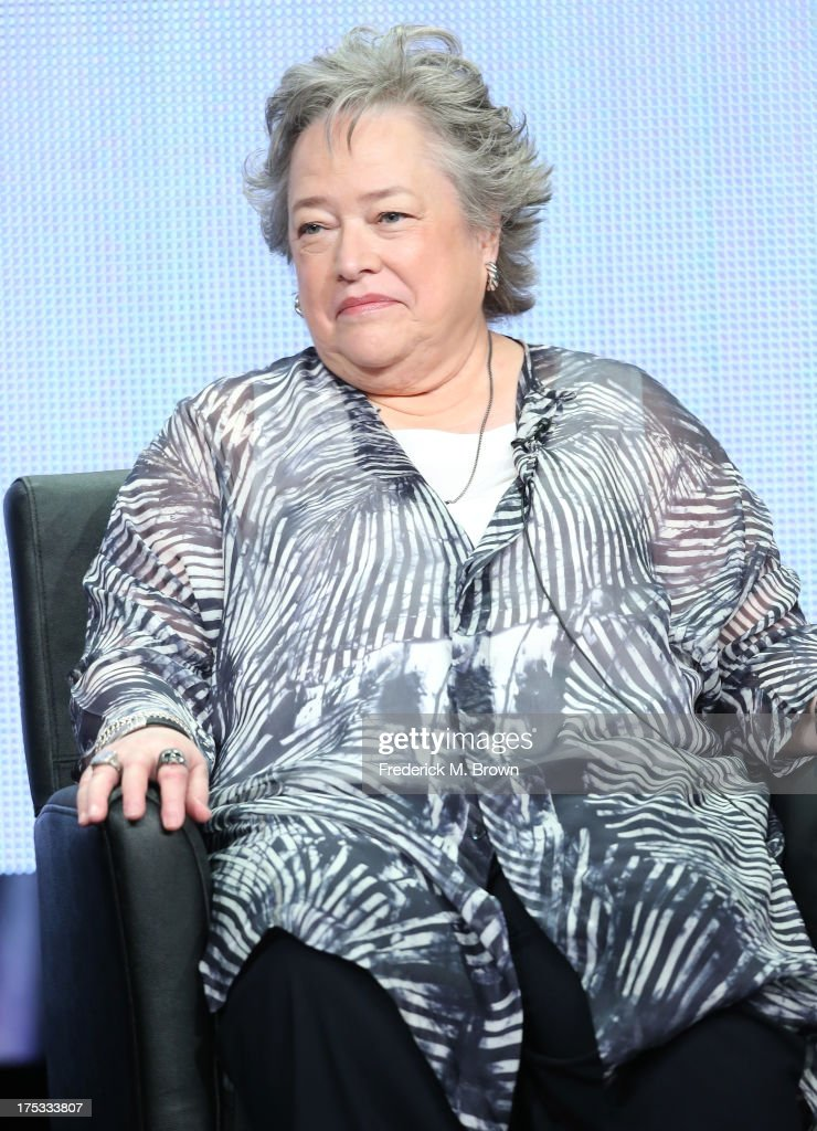 Actress <a gi-track='captionPersonalityLinkClicked' href=/galleries/search?phrase=Kathy+Bates+-+Actor&family=editorial&specificpeople=171565 ng-click='$event.stopPropagation()'>Kathy Bates</a> speaks onstage during the 'American Horror Story: Coven' panel discussion at the FX portion of the 2013 Summer Television Critics Association tour - Day 10 at The Beverly Hilton Hotel on August 2, 2013 in Beverly Hills, California.