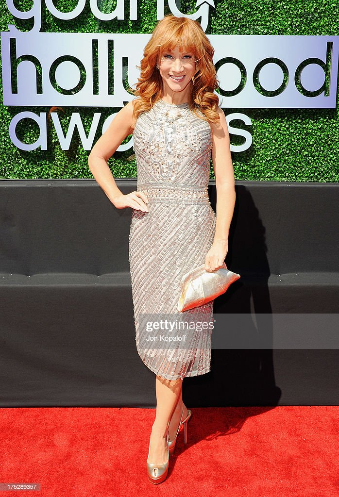 Actress <a gi-track='captionPersonalityLinkClicked' href=/galleries/search?phrase=Kathy+Griffin&family=editorial&specificpeople=203161 ng-click='$event.stopPropagation()'>Kathy Griffin</a> arrives at the 15th Annual Young Hollywood Awards at The Broad Stage on August 1, 2013 in Santa Monica, California.
