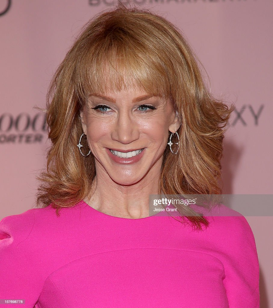 Actress <a gi-track='captionPersonalityLinkClicked' href=/galleries/search?phrase=Kathy+Griffin&family=editorial&specificpeople=203161 ng-click='$event.stopPropagation()'>Kathy Griffin</a> arrives at the Hollywood Reporter's 21st annual women in entertainment breakfast at The Beverly Hills Hotel on December 5, 2012 in Beverly Hills, California.