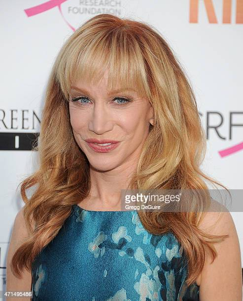 Actress Kathy Griffin arrives at the Los Angeles premiere of 'Ride' at ArcLight Hollywood on April 28 2015 in Hollywood California