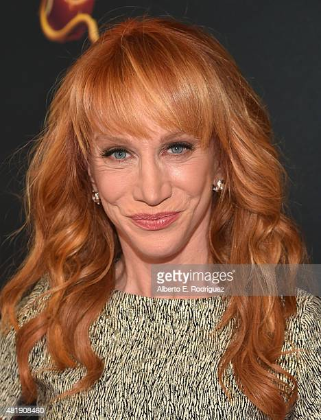 Actress Kathy Griffin attends the premiere of Disney Channel's 'Descendants' at Walt Disney Studios on July 24 2015 in Burbank California