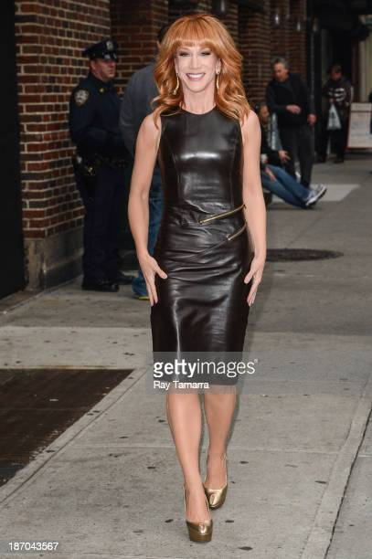 Actress Kathy Griffin enters the 'Late Show With David Letterman' taping at the Ed Sullivan Theater on November 5 2013 in New York City