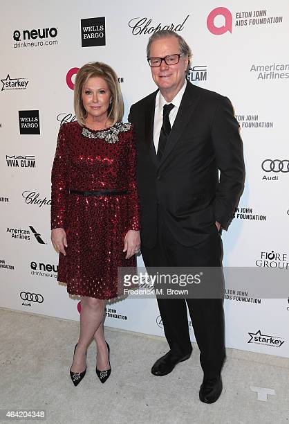 Actress Kathy Hilton and Richard Hilton attend the 23rd Annual Elton John AIDS Foundation's Oscar Viewing Party on February 22 2015 in West Hollywood...
