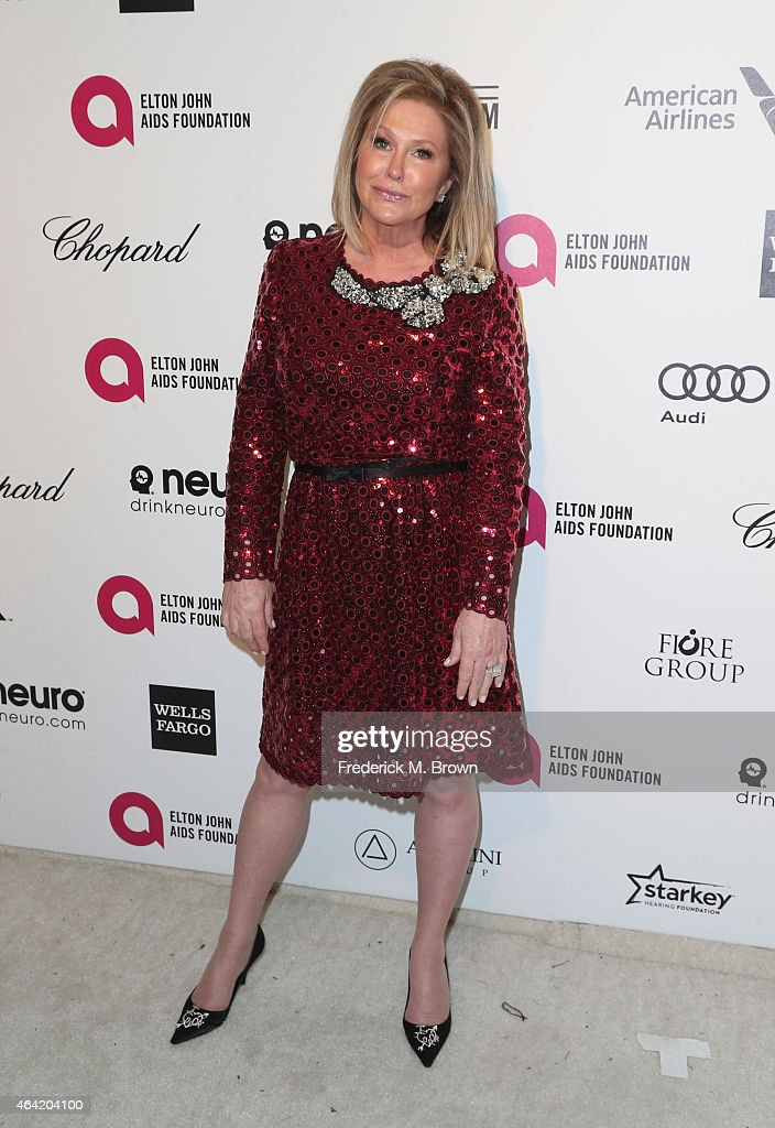 Actress <a gi-track='captionPersonalityLinkClicked' href=/galleries/search?phrase=Kathy+Hilton&family=editorial&specificpeople=209306 ng-click='$event.stopPropagation()'>Kathy Hilton</a> attends the 23rd Annual Elton John AIDS Foundation's Oscar Viewing Party on February 22, 2015 in West Hollywood, California.