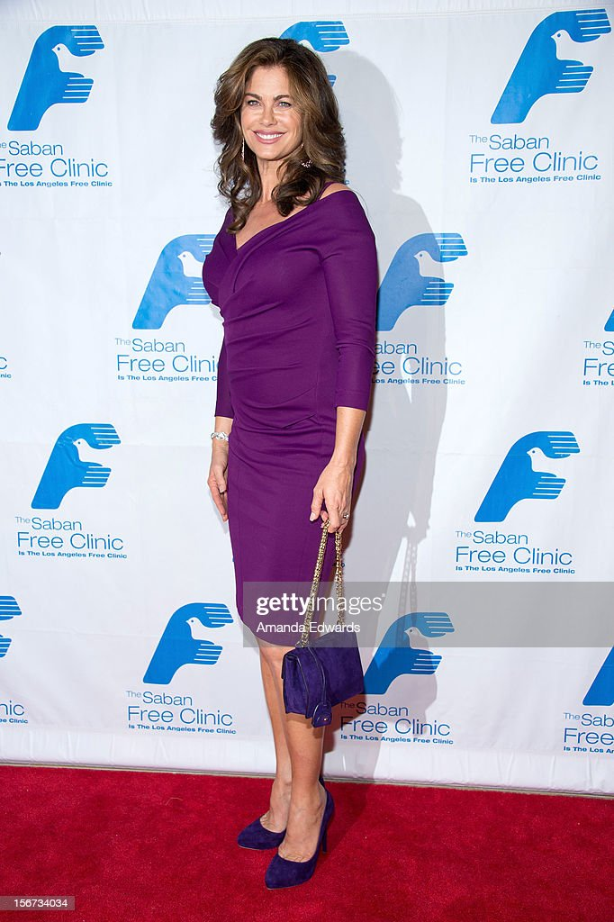 Actress Kathy Ireland arrives at the Saban Free Clinic's 36th Annual Dinner Gala at The Beverly Hilton Hotel on November 19, 2012 in Beverly Hills, California.