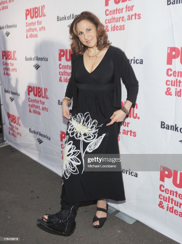 Actress <a gi-track='captionPersonalityLinkClicked' href=/galleries/search?phrase=Kathy+Najimy&family=editorial&specificpeople=213513 ng-click='$event.stopPropagation()'>Kathy Najimy</a> attends The Public Theater's 'Love's Labour's Lost' Opening Nght at Delacorte Theater on August 12, 2013 in New York City.