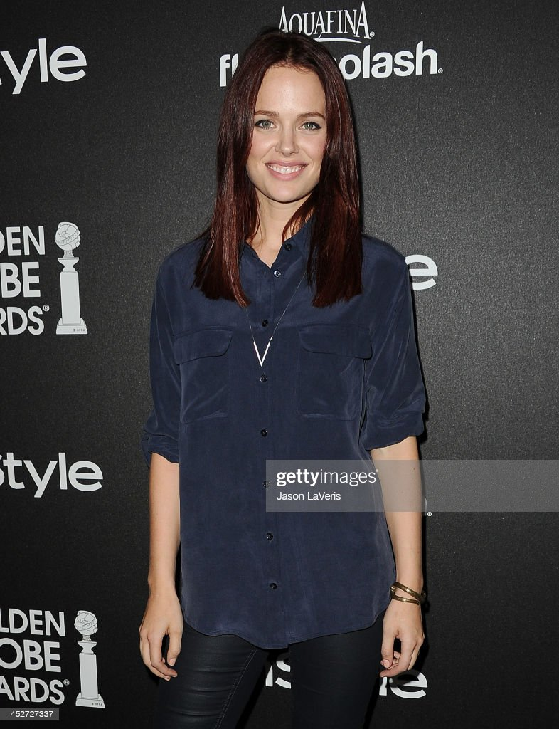 Actress <a gi-track='captionPersonalityLinkClicked' href=/galleries/search?phrase=Katia+Winter&family=editorial&specificpeople=4204378 ng-click='$event.stopPropagation()'>Katia Winter</a> attends the Miss Golden Globe event at Fig & Olive Melrose Place on November 21, 2013 in West Hollywood, California.