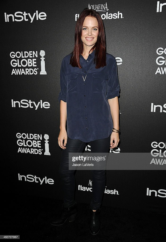 Actress Katia Winter attends the Miss Golden Globe event at Fig & Olive Melrose Place on November 21, 2013 in West Hollywood, California.