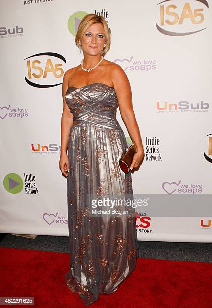 Actress Katie Apicella arrives at the 5th Annual Indie Series Awards at El Portal Theatre on April 2 2014 in North Hollywood California