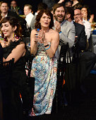 Actress Katie Aselton and actor/filmmaker Mark Duplass attends the 2016 Film Independent Spirit Awards on February 27 2016 in Santa Monica California