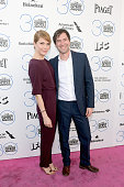 Actress Katie Aselton and actor/writer Mark Duplass attend the 30th Annual Film Independent Spirit Awards at Santa Monica Beach on February 21 2015...