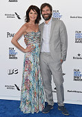 Actress Katie Aselton and director Mark Duplass arrive at the 2016 Film Independent Spirit Awards on February 27 2016 in Los Angeles California