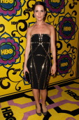 Actress Katie Aselton arrives at HBO's Official After Party at The Plaza at the Pacific Design Center on September 23 2012 in Los Angeles California