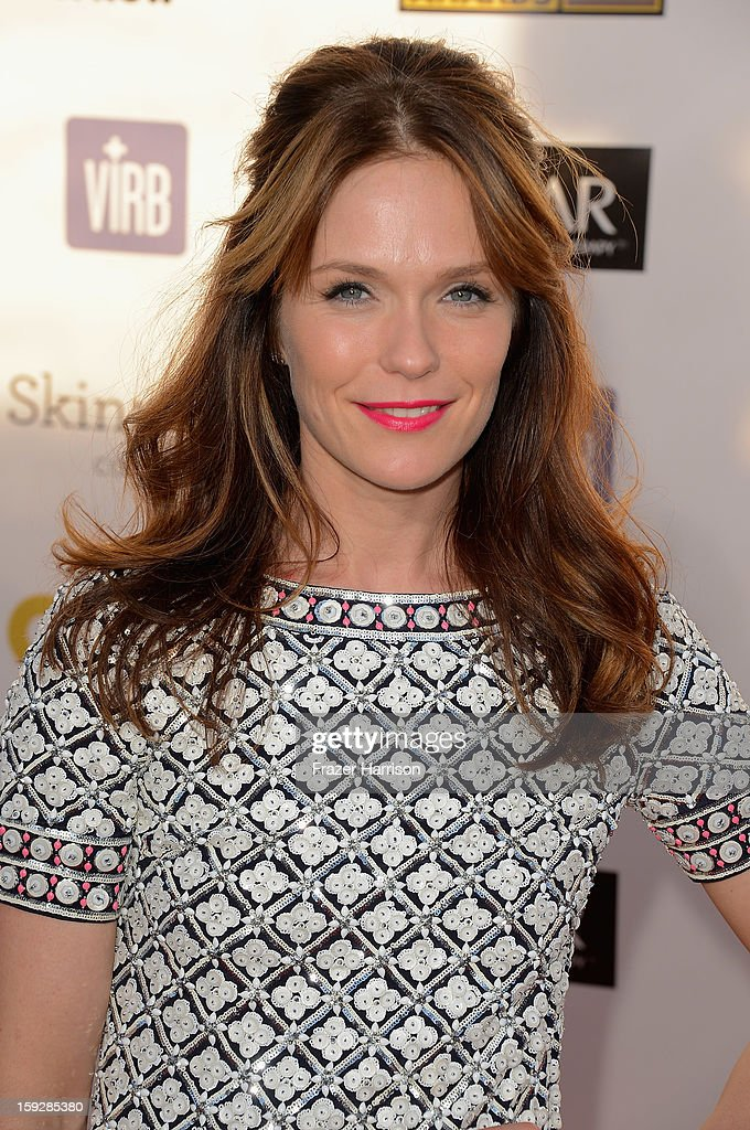 Actress <a gi-track='captionPersonalityLinkClicked' href=/galleries/search?phrase=Katie+Aselton&family=editorial&specificpeople=6457083 ng-click='$event.stopPropagation()'>Katie Aselton</a> arrives at the 18th Annual Critics' Choice Movie Awards at Barker Hangar on January 10, 2013 in Santa Monica, California.