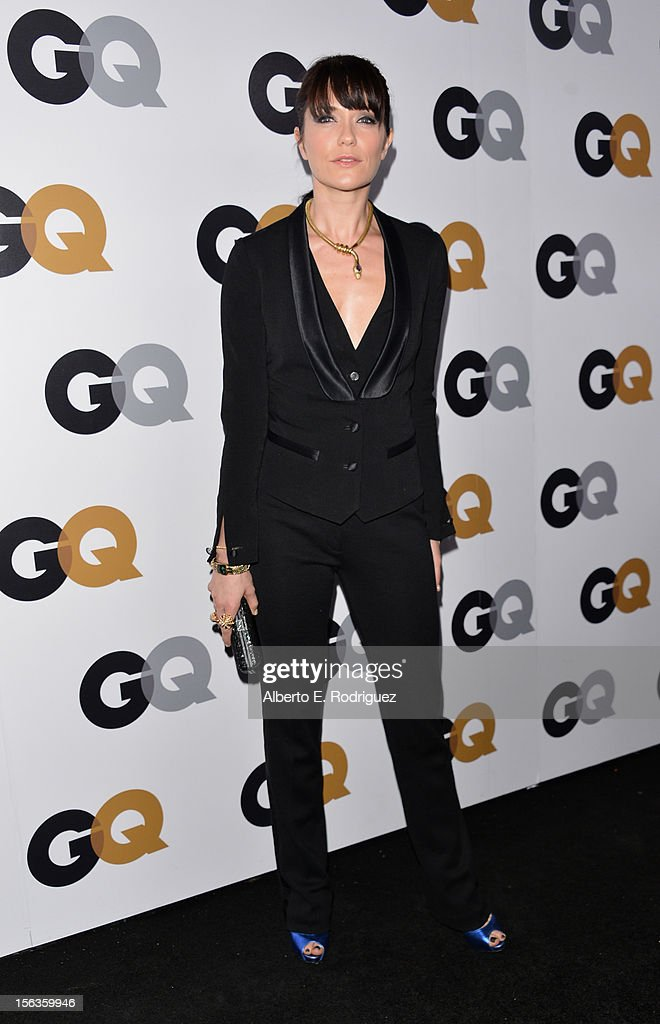 Actress Katie Aselton arrives at the GQ Men of the Year Party at Chateau Marmont on November 13, 2012 in Los Angeles, California.