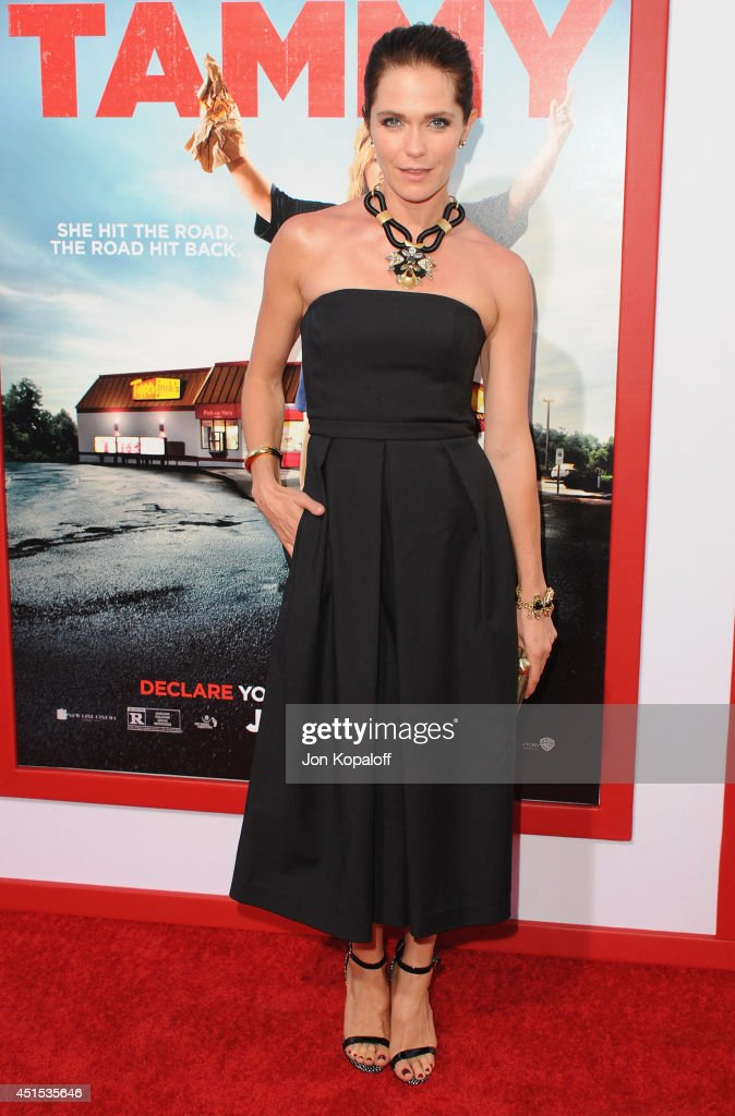 Actress <a gi-track='captionPersonalityLinkClicked' href=/galleries/search?phrase=Katie+Aselton&family=editorial&specificpeople=6457083 ng-click='$event.stopPropagation()'>Katie Aselton</a> arrives at the Los Angeles Premiere 'Tammy' at TCL Chinese Theatre on June 30, 2014 in Hollywood, California.