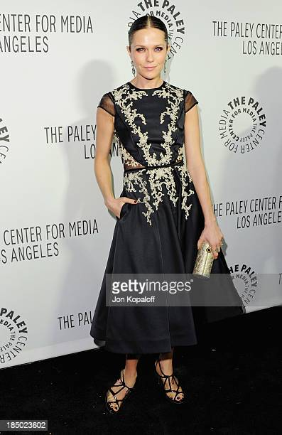 Actress Katie Aselton arrives at The Paley Center for Media Hosts 2013 Benefit Gala Honoring FX Networks on October 16 2013 in Los Angeles California