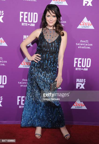 Actress Katie Aselton arrives at the premiere of FX Network's 'Feud Bette And Joan' at Grauman's Chinese Theatre on March 1 2017 in Hollywood...