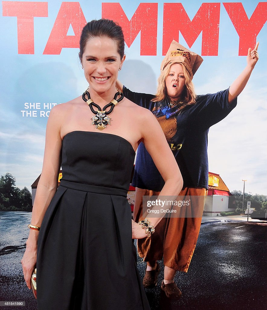 Actress <a gi-track='captionPersonalityLinkClicked' href=/galleries/search?phrase=Katie+Aselton&family=editorial&specificpeople=6457083 ng-click='$event.stopPropagation()'>Katie Aselton</a> arrives at the premiere of 'Tammy' at TCL Chinese Theatre on June 30, 2014 in Hollywood, California.