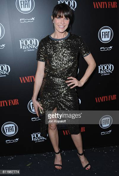 Actress Katie Aselton arrives at Vanity Fair And FIAT Toast To 'Young Hollywood' at Chateau Marmont on February 23 2016 in Los Angeles California