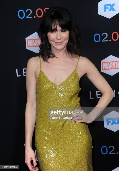 Actress Katie Aselton arrives for the Premiere Of FX's 'Legion' held at Pacific Design Center on January 26 2017 in West Hollywood California