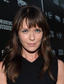 Actress Katie Aselton arrives for the screening of Magnolia Pictures' 'Drinking Buddies' at ArcLight Cinemas on August 15 2013 in Hollywood California