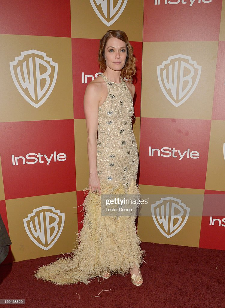 Actress Katie Aselton attends the 2013 InStyle and Warner Bros. 70th Annual Golden Globe Awards Post-Party held at the Oasis Courtyard in The Beverly Hilton Hotel on January 13, 2013 in Beverly Hills, California.