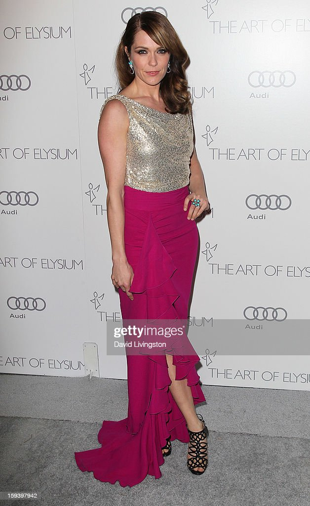 Actress Katie Aselton attends the Art of Elysium's 6th Annual Black-tie Gala 'Heaven' at 2nd Street Tunnel on January 12, 2013 in Los Angeles, California.