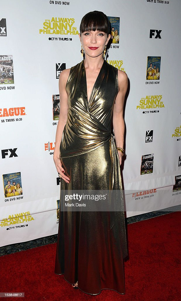 Actress Katie Aselton attends the FX season premiere screenings for 'It's Always Sunny In Philadelphia' and 'The League' at ArcLight Cinemas Cinerama Dome on October 9, 2012 in Hollywood, California.