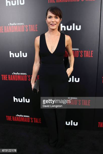 Actress Katie Aselton attends the premiere of Hulu's 'The Handmaid's Tale' at ArcLight Cinemas Cinerama Dome on April 25 2017 in Hollywood California