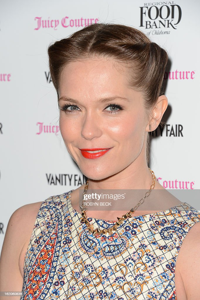Actress Katie Aselton attends the Vanity Fair And Juicy Couture Celebration Of The 2013 Vanities Calendar party at Chateau Marmont February 18, 2013 in West Hollywood, California. AFP PHOTO Robyn BECK
