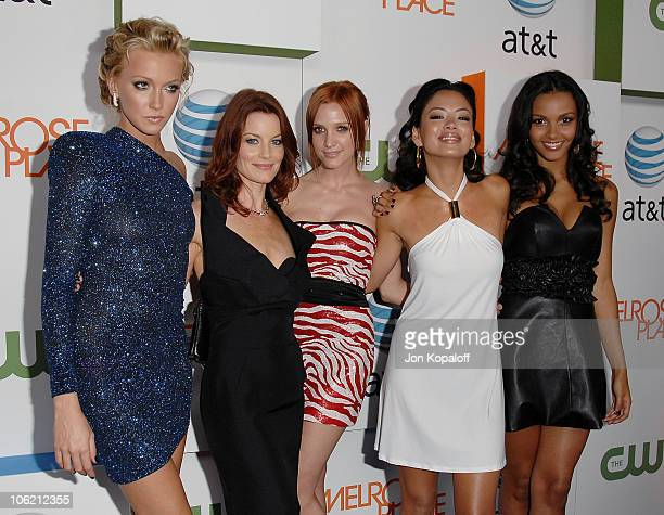 Actress Katie Cassidy actress Laura Leighton actress/singer Ashlee SimpsonWentz actress Stephanie Jacobsen and actress Jessica Lucas arrive at the...