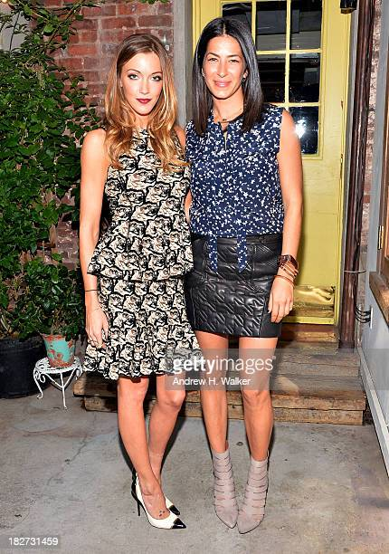 Actress Katie Cassidy and designer Rebecca Minkoff attend The Rebecca Minkoff Holiday Collection exclusively for Tiny Prints Luncheon at Palma on...