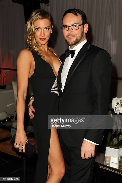 Actress Katie Cassidy and producer Dana Brunettei attend The Weinstein Company Netflix's 2015 Golden Globes After Party presented by FIJI Water Lexus...