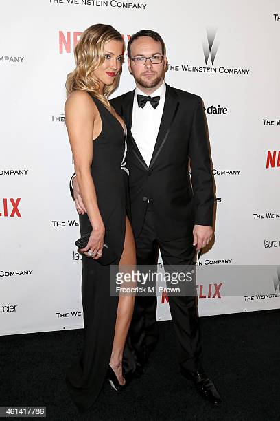 Actress Katie Cassidy and producer Dana Brunetti attend the 2015 Weinstein Company and Netflix Golden Globes After Party at Robinsons May Lot on...