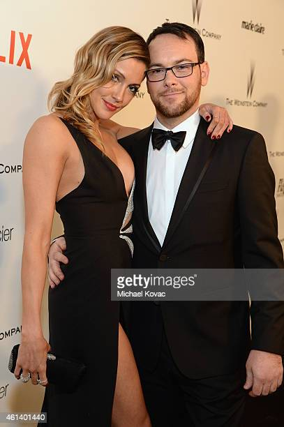 Actress Katie Cassidy and producer Dana Brunetti attend The Weinstein Company's 2015 Golden Globe Awards After Party with Moet Chandon at The Beverly...