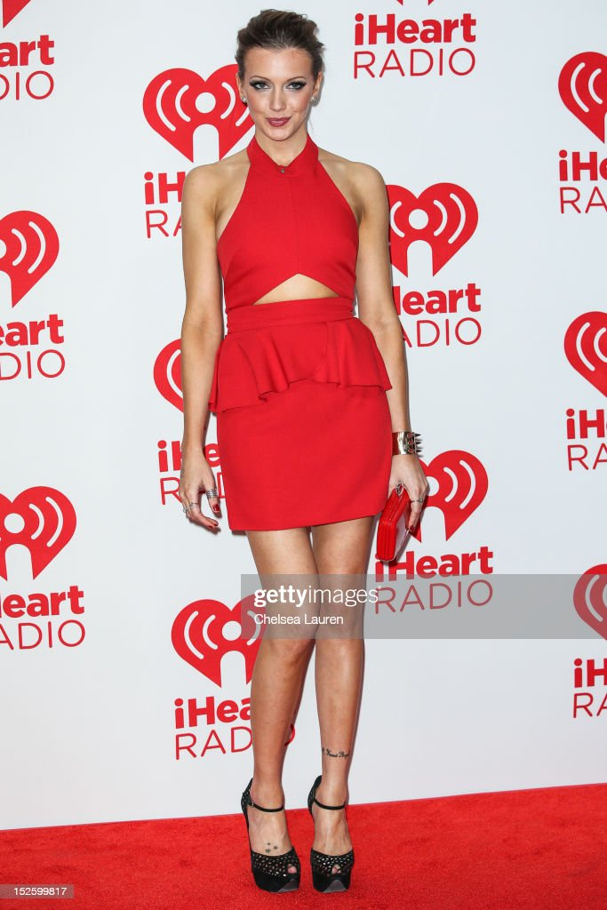 Actress Katie Cassidy arrives at iHeartRadio Music Festival press room at MGM Grand Garden Arena on September 22, 2012 in Las Vegas, Nevada.