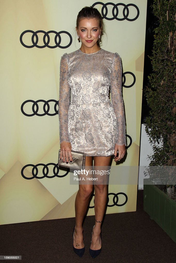 Actress Katie Cassidy arrives at the Audi Golden Globe 2013 Kick Off Party at Cecconi's Restaurant on January 6, 2013 in Los Angeles, California.