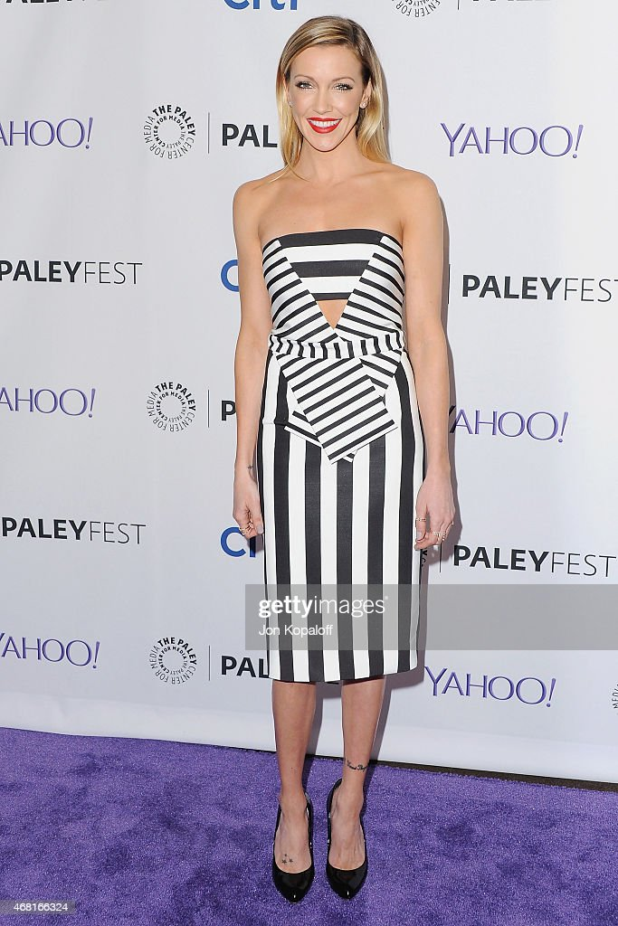 Actress <a gi-track='captionPersonalityLinkClicked' href=/galleries/search?phrase=Katie+Cassidy&family=editorial&specificpeople=569891 ng-click='$event.stopPropagation()'>Katie Cassidy</a> arrives at The Paley Center For Media's 32nd Annual PALEYFEST LA - 'Arrow' And 'The Flash' at Dolby Theatre on March 14, 2015 in Hollywood, California.