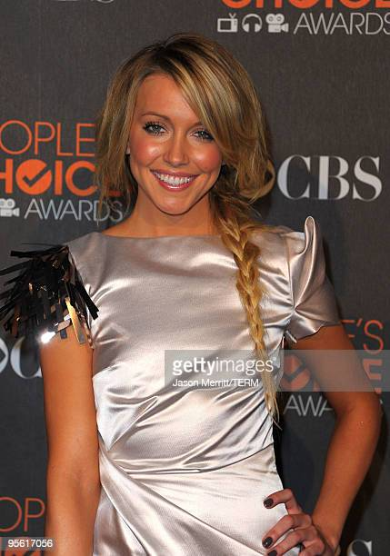 Actress Katie Cassidy arrives at the People's Choice Awards 2010 held at Nokia Theatre LA Live on January 6 2010 in Los Angeles California